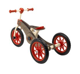 Immagine di Triciclo-Bicicletta in legno 2-in-1 Magic Wheels - Italtrike
