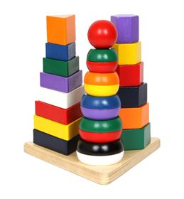 Immagine di Blocchi impilabili Piramide 3 in 1 - Small Foot