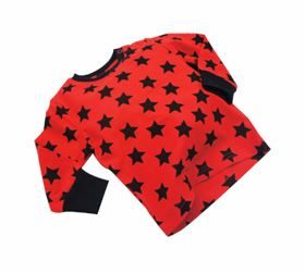Immagine di Maglia a manica lunga Red with black star - Blade & Rose