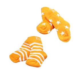 Immagine di Calzini Orange stripe and star 2 paia - Blade & Rose