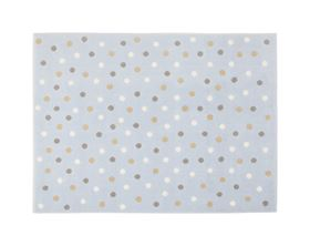 Immagine di Tappeto in Acrilico Dots Blue Multi - Lorena Canals