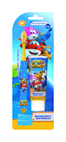 Immagine di Set Spazzolino + dentifricio Super Wings - Naturaverde Kids
