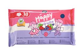 Salviette Biodegradabili Fragola e Mirtillo 30 pz - Happy