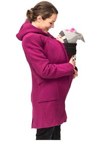 "Cappotto ""Mamma-bimbo"" Hooded Berry PORTA BEBE' DAVANTI"