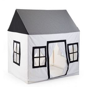 "Tenda Gioco in cotone ""Big House Black&White"" 125x95x145 cm - Childhome"