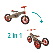 Triciclo-Bicicletta in legno 2-in-1 Magic Wheels – Italtrike