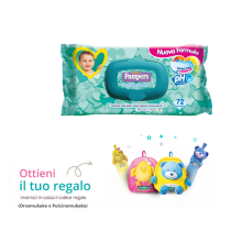 Salviettine Pampers Baby Fresh Ph neutro – IN OMAGGIO ZAINO e METRO