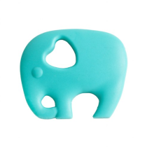 Massaggiagengive Elefante Turchese in silicone alimentare – Nibbling